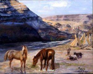 """""""Along the Salmon River"""" """"Along the Salmon River"""" - Original Sold   Wildlife Paintings  Wild Things Art"""