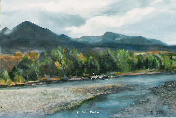 """Banks of the Yellowstone"" - Original Oil - 11"" x 14"" <br> <font size=2> (50 S/N Limited Edition Prints)</font> ""Banks of the Yellowstone""  Landscape Paintings  Landscape Art"