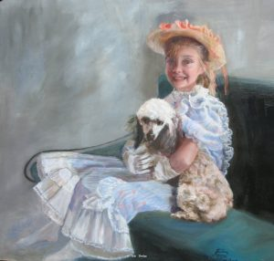 """Bethany & Princess"" - Original Oil 16"" X 16"" ""Bethany & Princess""  - Original Sold"