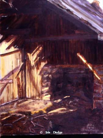 """Eagle Creek Cabin"" - Original Oil ""Eagle Creek Cabin""  Landscape Paintings  Landscape Art"