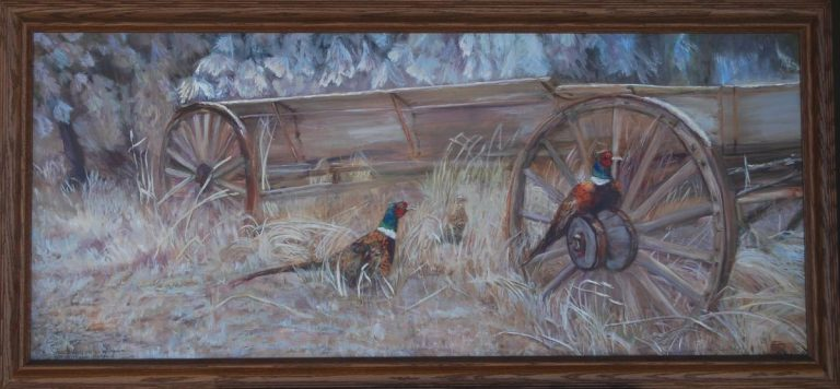 """Fall Pheasants At Alpowa"" ""Fall Pheasants At Alpowa""  Wildlife Paintings  Wild Things Art"