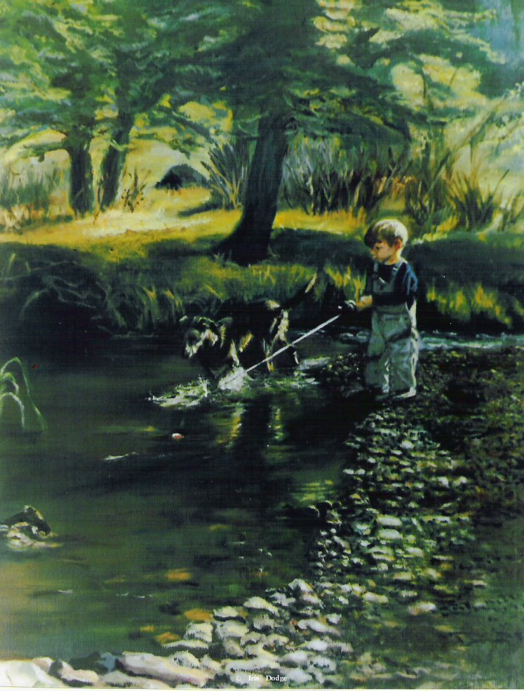 """Fishin""<br> <font size=2>(50 S/N Limited Edition Prints) </font> ""Fishin""  Landscape Paintings  Landscape Art"