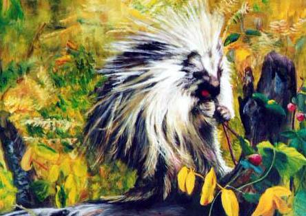 """""""Porky""""<br> <font size=2> (50 S/N Limited Edition Prints)</font> """"Porky"""" -  Original Sold  Wildlife Paintings  Wild Things Art"""