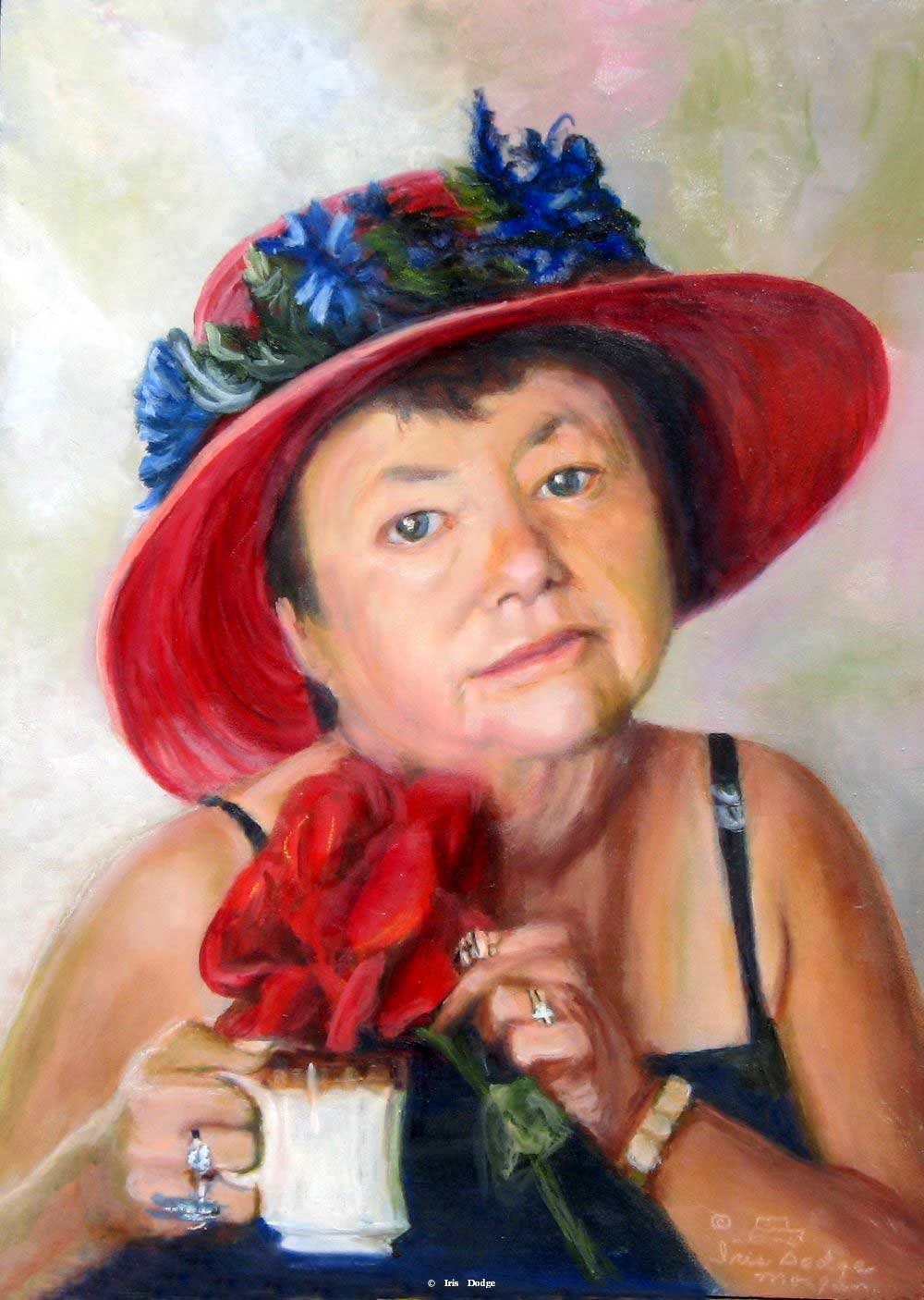 """Red Hat Mama""<br>Original Oil 12"" X 16"" ""Red Hat Mama"""