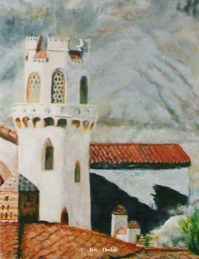 """""""Scotty's Castle""""<br> <font size=2>(100 S/N Limited Edition Prints)</font> """"Scotty's Castle""""  Landscape Paintings  Landscape Art"""